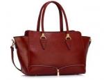 Burgundy Tote Handbag - Mulrany Fashions