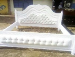 Buttoned Bed White 6 x 6