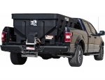 SaltDogg 1.5 Cubic Yard Electric Black Poly Hopper Spreader with Extended Chute